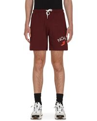 Noah Rugby Cloth Shorts Harvard M - Red
