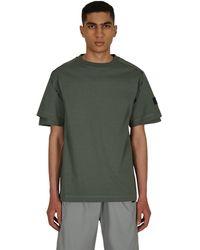 Affix Dual Sleeve T-shirt - Green