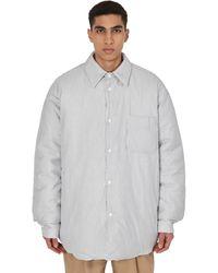 Hed Mayner Padded Shirt Jacket - Gray