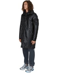 Stone Island Shadow Project Quilted Fishtail Parka - Black