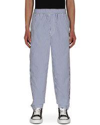 Comme des Garçons Stripe Pants - Blue