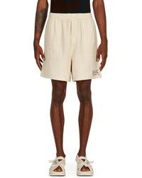 Bode Basket Weave Rugby Shorts Ecru S - Natural