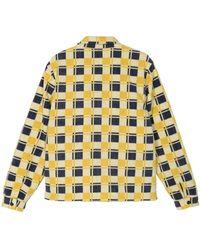 Stussy Brent Polar Fleece Jacket - Yellow