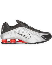 Nike Shox R4 Trainers - Metallic