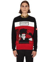Cav Empt Design Crewneck Jumper - Black