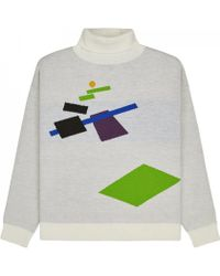 Gosha Rubchinskiy - Geometry Turtleneck Jumper - Lyst