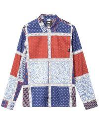 Stussy - Paisley Patchwork Shirt - Lyst