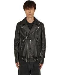 Acne Studios Leather Biker Jacket Black M