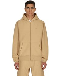 Advisory Board Crystals Logo Zip-up Hooded Sweatshirt Topaz S - Natural