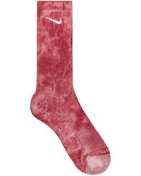 Nike Everyday Plus Cushioned Crew Socks Cedar/fossil Stone S - Red