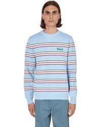 Lacoste L!ive Striped Cotton Crewneck Jumper Multi S - Blue