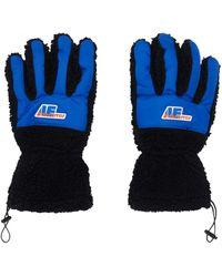 ADER error Puppy Fur Gloves - Black