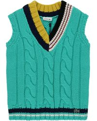 Lacoste L!ive Knitted Vest - Green