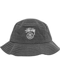 Stussy - Washed Stock Lock Bucket Hat - Lyst