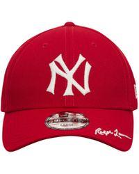 KTZ Polo Ralph Lauren 49forty New York Yankees Cap Scarlet S - Red
