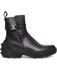 1017 ALYX 9SM Fixed Sole Buckle Boots - Black