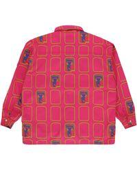 Cav Empt Grid Zip Shirt - Pink