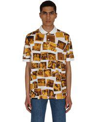 Lacoste L!ive Polaroid Classic Fit Polo Shirt White/yellow Xs - Multicolour
