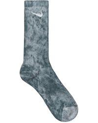 Nike Everyday Plus Cushioned Crew Socks Hasta/pure Platinum S - Blue