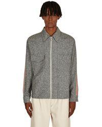 Wales Bonner Charlie Zipped Shirt Jacket Ash Grey S