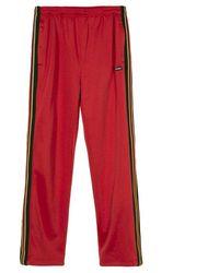 Stussy Textured Rib Track Pant Red