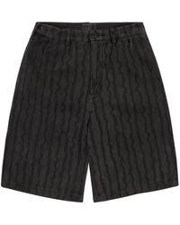 Cav Empt Wave Stripe Shorts - Black
