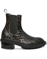 Eytys - Nikita Crocodile Effect Leather Chelsea Boots - Lyst
