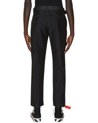 Off-White c/o Virgil Abloh Belted Tapered Trousers - Black