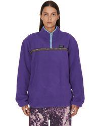 Stussy Wmns Summit Half Zip Polar Fleece - Purple
