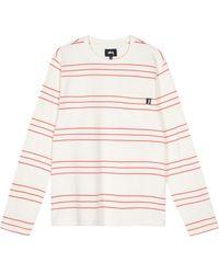 Stussy Trinity Stripe Longsleeved T-shirt - Natural