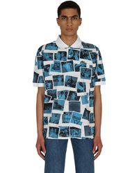 Lacoste L!ive Polaroid Classic Fit Polo Shirt White/blue Xs