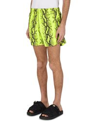 Off-White c/o Virgil Abloh Snake Swim Shorts - Yellow