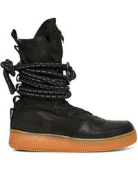Nike - Nike Sf Air Force 1 Hi Boot Black/black Gum - Lyst