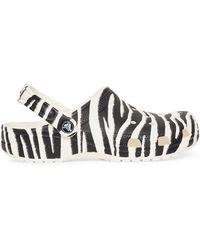 Crocs™ Classic Animal Clogs White/zebra Print 4