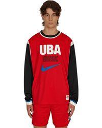 Nike Undercover Long Sleeve Mesh Shooting Top University Red/battle Blue Xs
