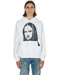 Off-White c/o Virgil Abloh Off White Mona Lisa-print Cotton-jersey Hoody