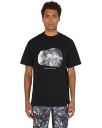 and wander Sae Honda Stone Print T-shirt - Black