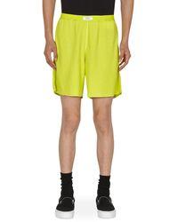 ERL Waffle Shorts - Yellow