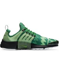 Nike Air Presto Stretch-woven Mid-top Trainers - Green