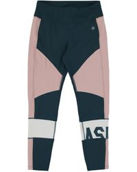 Asics Color Block Cropped Tight 2 - Blue