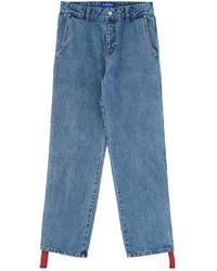 ADER error Side Stripe Denim Trousers Blue