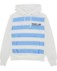 Helmut Lang Standard Bars Hooded Sweatshirt - White