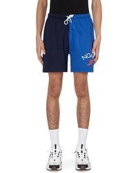 Noah Rugby Cloth Shorts Multi S - Blue