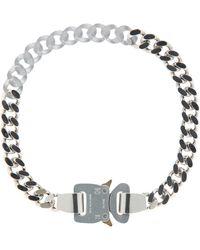 1017 ALYX 9SM Metal And Nylon Chain Necklace Silver/transparent U - Metallic
