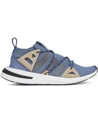1d3a594e096b Lyst - adidas Arkyn Colorblock Mesh Sneakers Ash pearl Gray in Blue ...