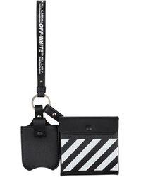 Off-White c/o Virgil Abloh Leather Multi-functional Bags Black/white U