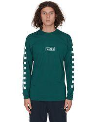 Vans Easy Box Checker Long Sleeves T-shirt Green/white S