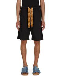 Kapital Combed Burberry Easy Shorts Black M
