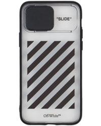 Off-White c/o Virgil Abloh Diag Slide Iphone 11 Pro Case Black U