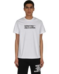 Helmut Lang School T-shirt Chalk White S